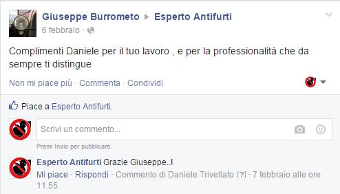 Feedback Giuseppe Burrometo