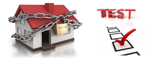 test sicurezza casa